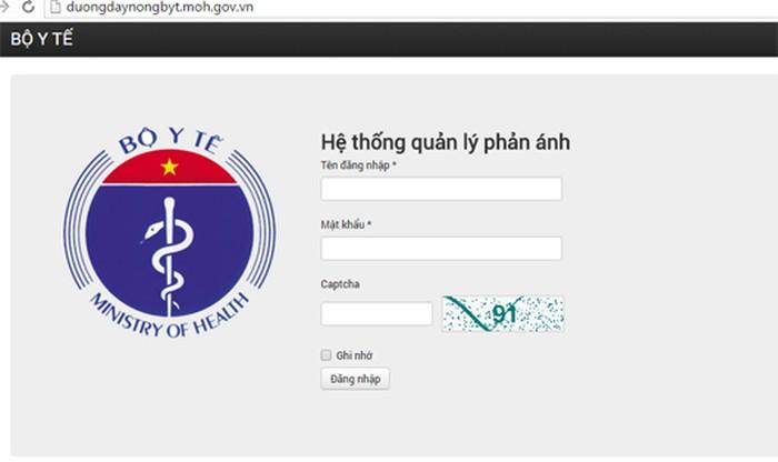 Bộ Y tế thử nghiệm trang web đường dây nóng