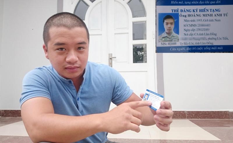 Chàng trai Lâm Đồng đăng ký hiến tại ở tuổi 24