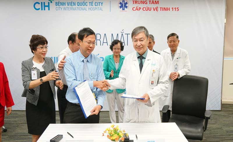 Ra mắt trạm cấp cứu vệ tinh thứ 26 đặt tại Bệnh viện Quốc tế City
