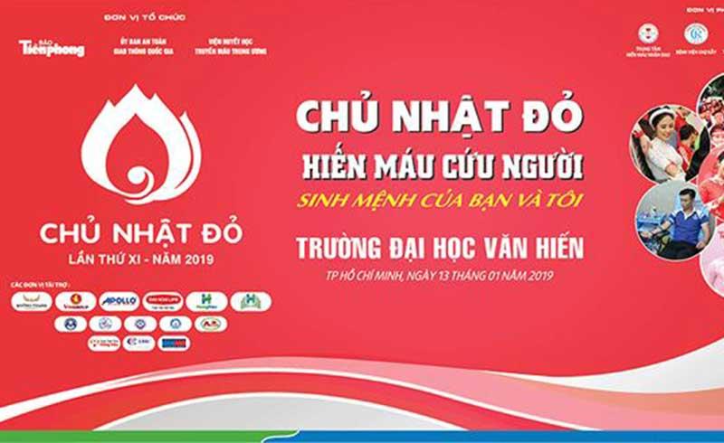 TP. HCM sẽ tổ chức ngày hội hiến máu Chủ Nhật Đỏ vào ngày 13/1