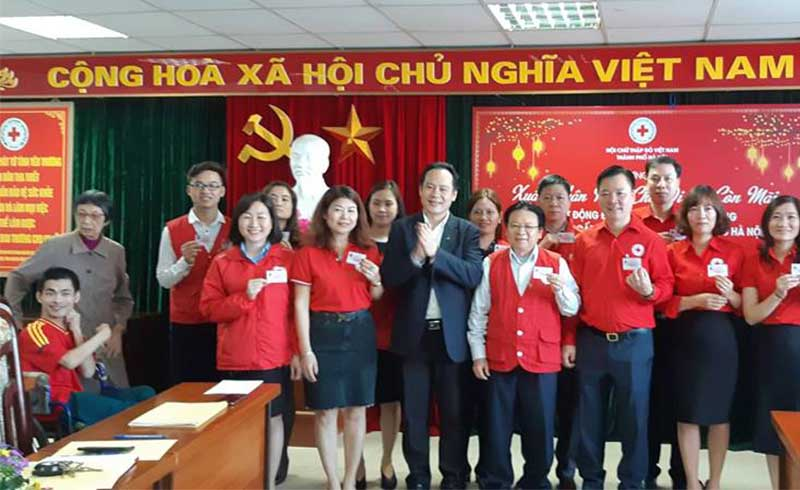 54 cán bộ Hội Chữ thập Đỏ Hà Nội đăng ký hiến mô, tạng đầu năm mới