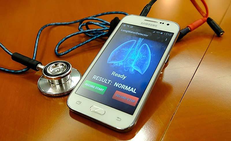 Thiết bị cảm biến nghe phổi để kiểm tra tim