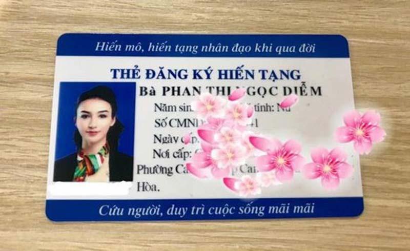 Hoa hậu Ngọc Diễm quyết định đăng ký hiến tạng