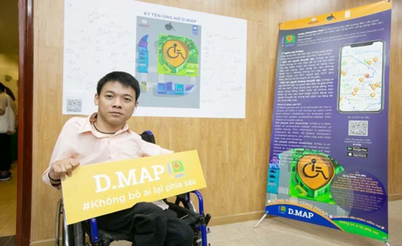 Ứng dụng D.Map – bạn đồng hành mỗi chuyến đi cho người khuyết tật