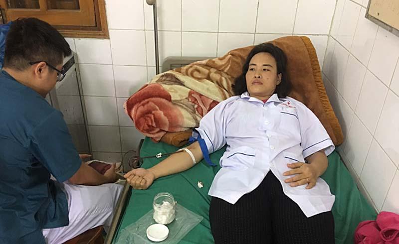 Hiến máu ở đảo xa cứu bệnh nhân vỡ thai ngoài tử cung