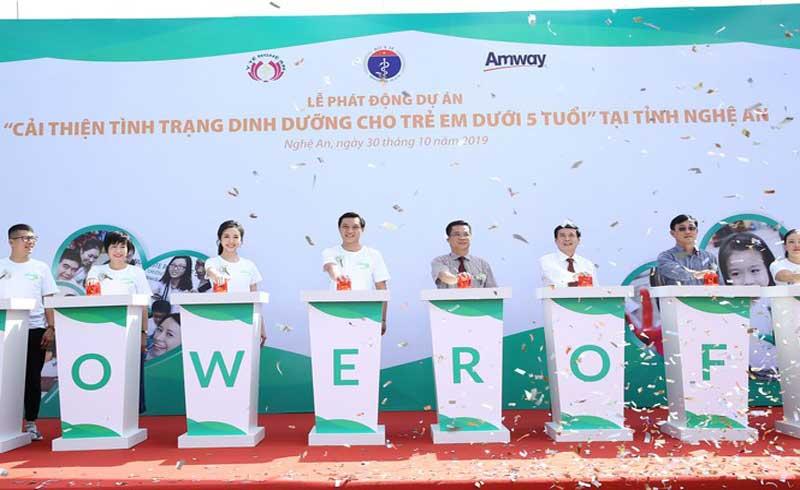 Khởi động dự án 'cải thiện tình trạng dinh dưỡng cho trẻ fưới 5 tuổi' ở Nghệ An