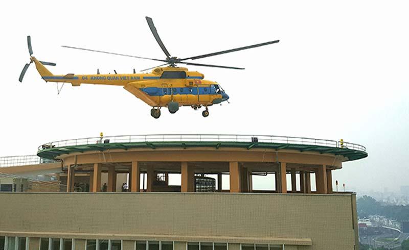 Nhiều bệnh viện có sân bay trực thăng