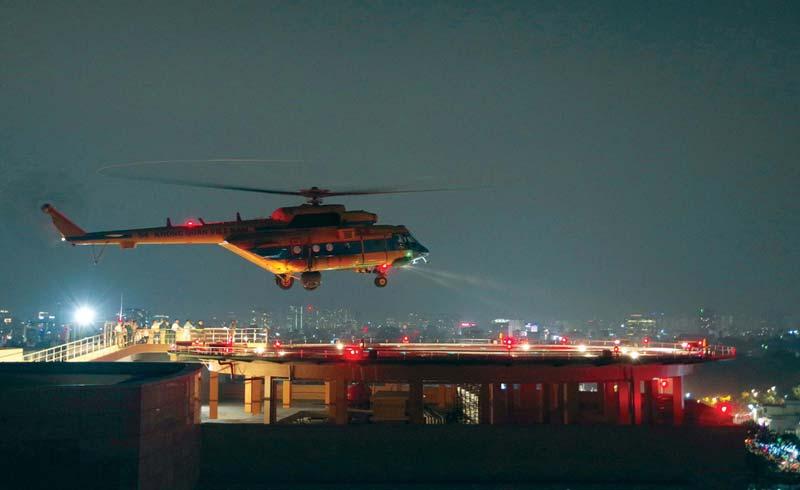 Bước tiến mới – cấp cứu bằng trực thăng