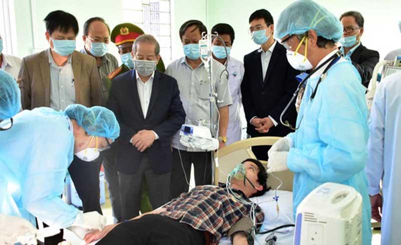 Diễn tập cứu chữa bệnh nhân nghi nhiễm nCoV tại nhà