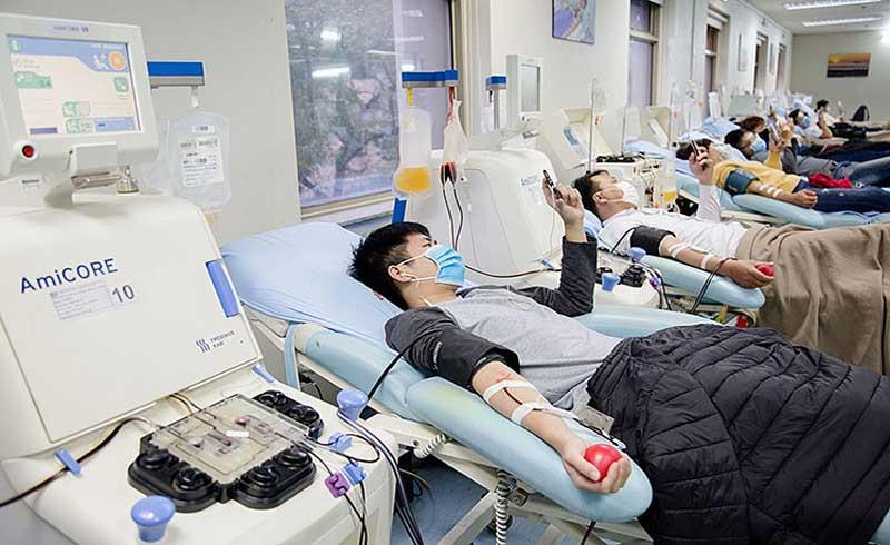 Tổ chức hiến máu tại 6 điểm phòng dịch viêm phổi