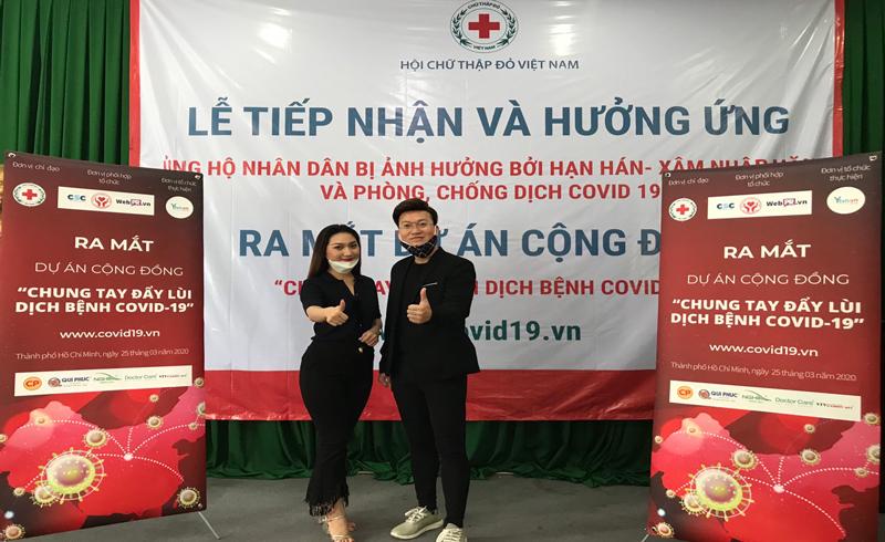 Ca sĩ Sỹ Luân, Cao Mỹ Kim kêu gọi chung tay phòng, chống dịch Covid-19