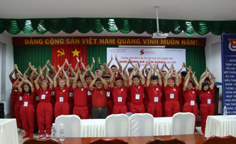 Tập huấn tình nguyện viên Hành trình Đỏ Kiên Giang 2020