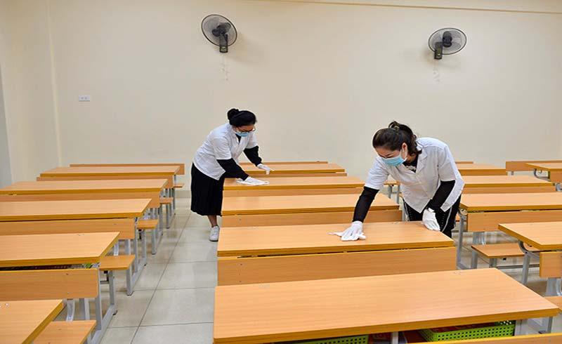 Bộ Y tế khuyến cáo khử khuẩn trường học