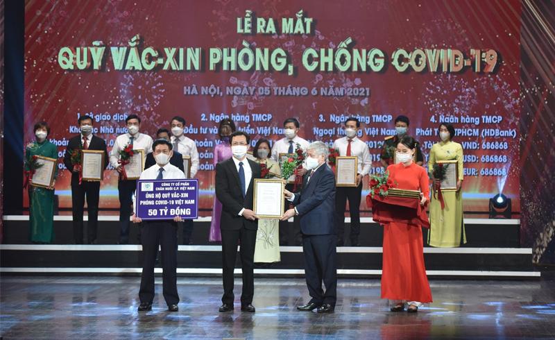 C.P. Việt Nam góp 50 tỷ đồng vào Quỹ Vắc – xin phòng, chống Covid-19